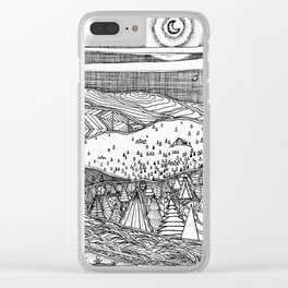 Cabin on the Hill Clear iPhone Case