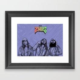 Flatbush ZOMBiES.(alt) Framed Art Print