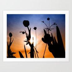 Tulips in the sun (color) Art Print