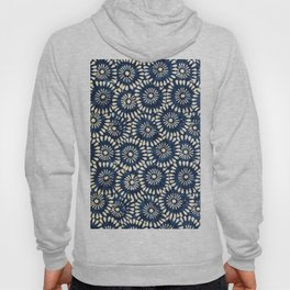 Blue and White Flower Pattern Hoody