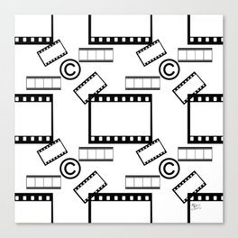 Film © pattern Canvas Print