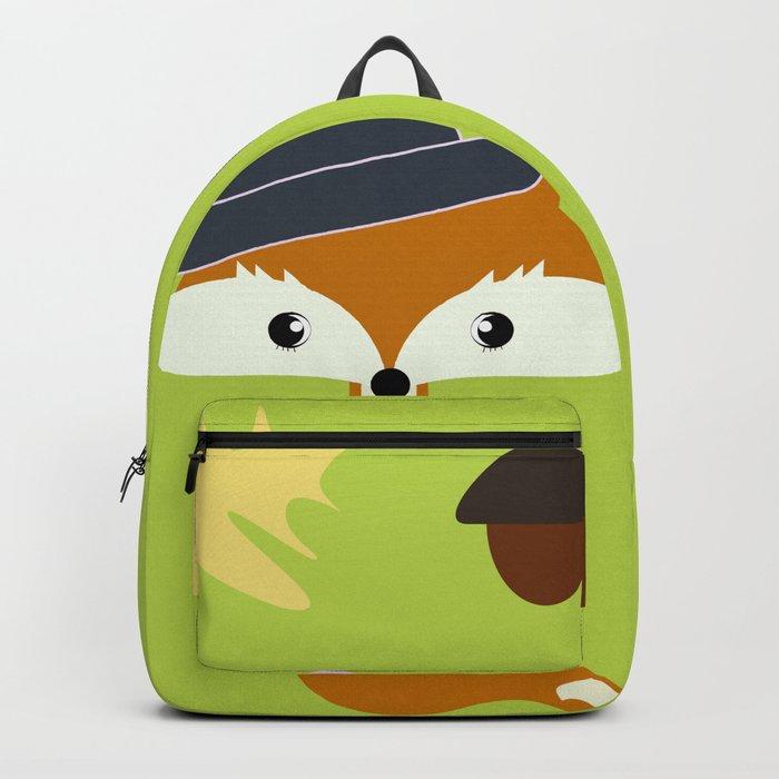 Cute fox in autumn II Backpack
