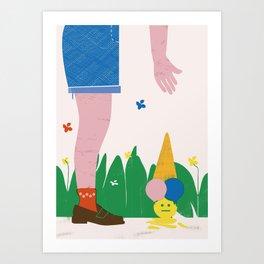 SUMMERTIME BLUES Art Print