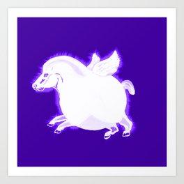 Fat Pegasus Art Print