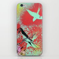 swallow iPhone & iPod Skins featuring Swallow by MinxInk