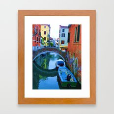 Lonely Boats  Framed Art Print