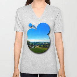 Condensation trail with some scenery Unisex V-Neck