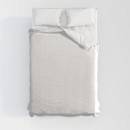 White Minimalist Solid Color Block Spring Summer Duvet Cover