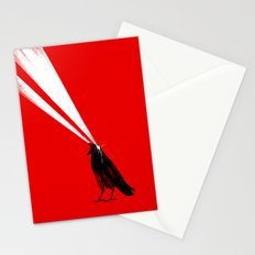 Laser Crow Stationery Cards