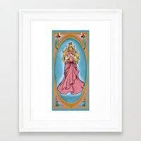princess peach Framed Art Prints featuring Princess Peach by Banana Leviathan