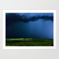 aelwen Art Prints featuring Wild, wild weather by Donuts
