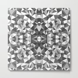 Abstract Colide Black and White Metal Print