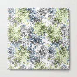 Abstract flowers .16 Metal Print