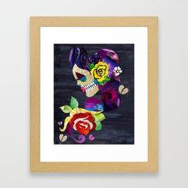 Sad Sugar Skull Framed Art Print