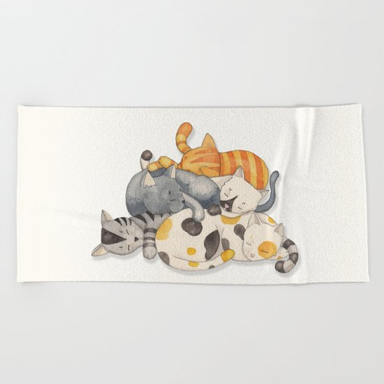 Cat Nap (Siesta Time) Beach Towel
