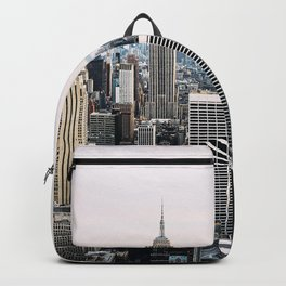 New York skyline from Top of the Rock Backpack