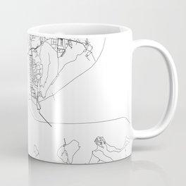 Mumbai White Map Coffee Mug