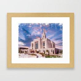 Ogden Utah LDS Temple Framed Art Print