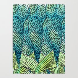 Mermaid Print Poster