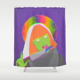 Neon Queen of Halloween Shower Curtain