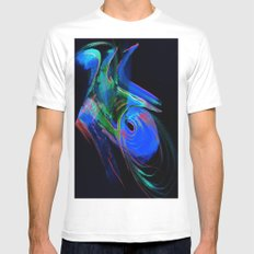 Aurora Windstorm MEDIUM White Mens Fitted Tee