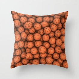 Basketballs Throw Pillow