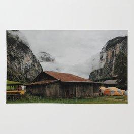 Camping Grounds of Lauterbrunnen, Switzerland Rug