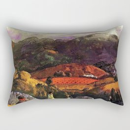 Mountain Valley Golf Course, California by George Wesley Bellows Rectangular Pillow
