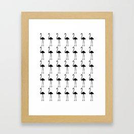 Black flamingos Framed Art Print