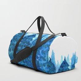 Winter Forest landscape watercolor Duffle Bag
