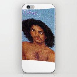 Portrait purple iPhone Skin