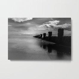 Black and White Seascape Metal Print