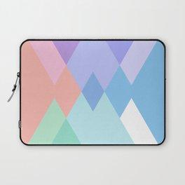 Geometric Pattern in Soft Hues Laptop Sleeve