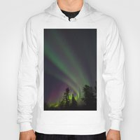 northern lights Hoodies featuring Northern Lights 3 by Pamela Barron