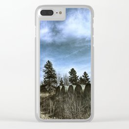 Haybales on the Road Clear iPhone Case