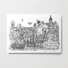 Busy City – Bristol, UK Metal Print