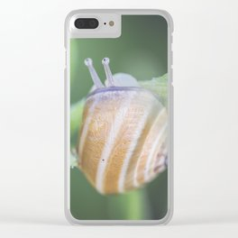 Wide open eyes Clear iPhone Case