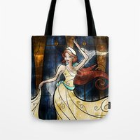 mandie manzano Tote Bags featuring Once upon a December by Mandie Manzano