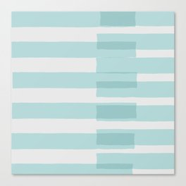 Big Stripes In Turquoise Canvas Print