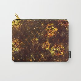Diamond Rose Pattern - Maroon and Gold Carry-All Pouch
