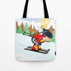 Winter Sports: Biathlon Tote Bag