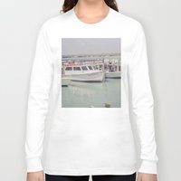 boats Long Sleeve T-shirts featuring boats by studiomarshallarts