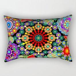 Mandalas & Exotic Fruits Pattern Rectangular Pillow
