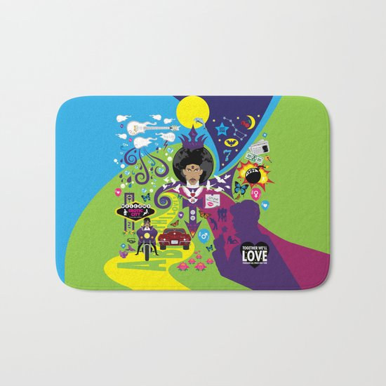 The Emoji-fication of His Purple Majesty: The Full Story Bath Mat