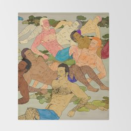 Sunbathers Throw Blanket