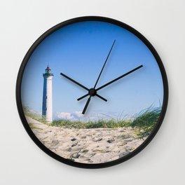 Nantucket Beach Lighthouse Wall Clock