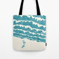 ilovedoodle Tote Bags featuring To the sea by I Love Doodle