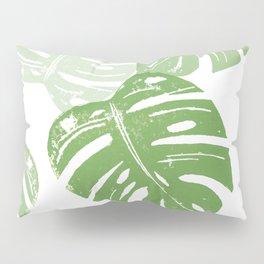 Linocut Leaf Pillow Sham