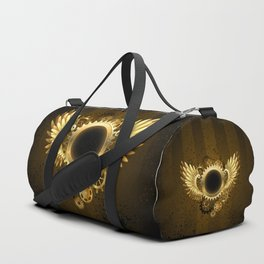 Round Banner with Steampunk Wings Duffle Bag