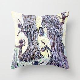 Tree Kids Throw Pillow